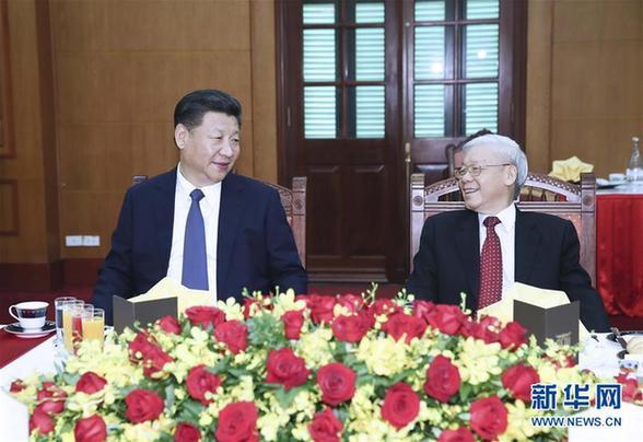(XHDW)(2)习近平再次会见越共中央总书记阮富仲