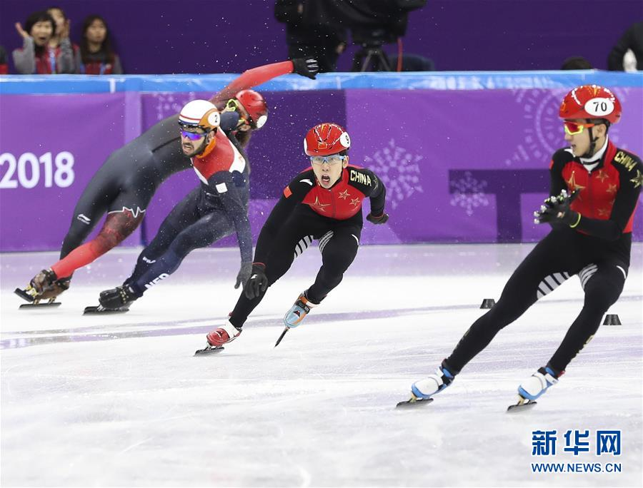 (冬奥会)(10)短道速滑——男子5000米接力:中国队晋级决赛